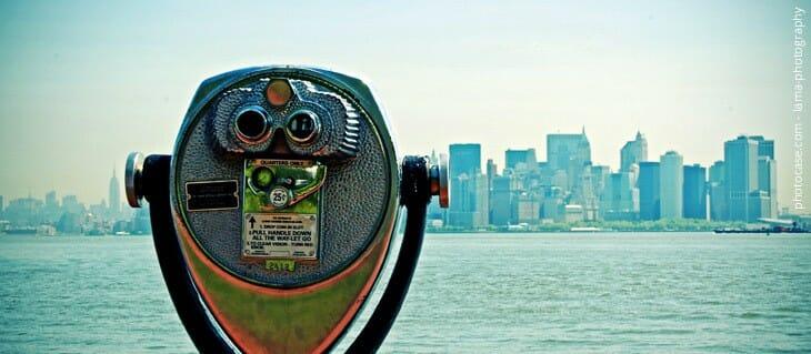 Fernrohr - New York Zukunftsfragen