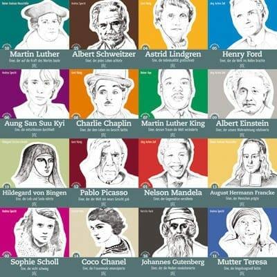 Menschen, die die Welt verändern. Inspirierende Biographien - ein wunderbares Geschenk. Die Geschenkidee für Menschen, die schon alles haben...